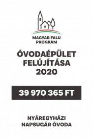 Óvodaépület felújítása 2020